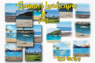 Beach background Holiday landscapes Mug Design Diy Greeting