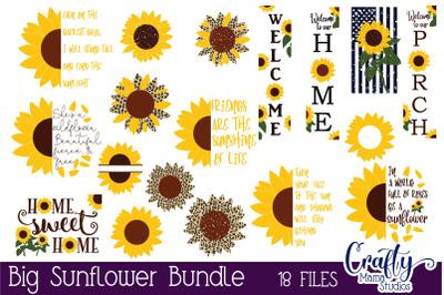 Sunflower Svg, Sunflower Bundle Svg, Summer Bundle