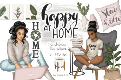 Happy At Home Clipart & Patterns