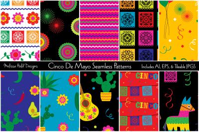 Cinco De Mayo Seamless Patterns