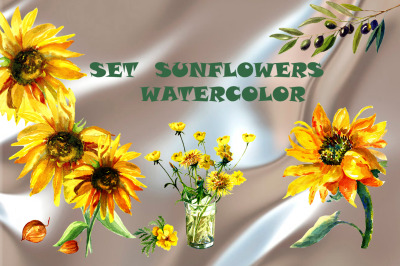 Set sunflowers