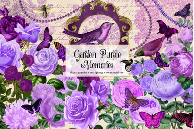 Garden Purple Memories Clipart