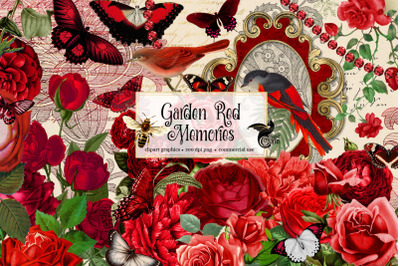 Garden Red Memories Clipart