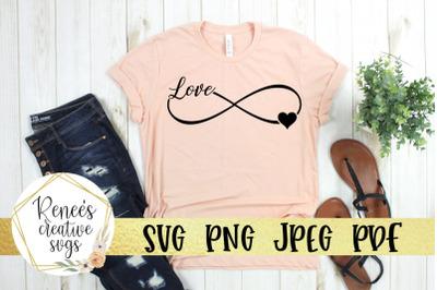 "Infinity ""Love"" Svg"