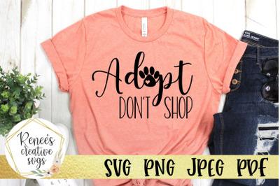Adopt Dont Shop SVG