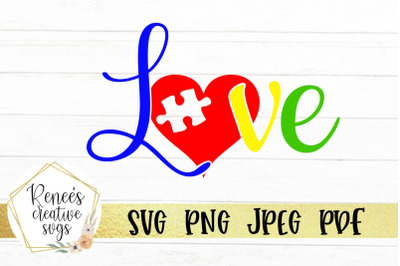 Autism Love SVG