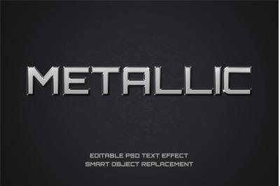 Metallic Font Effect Editable PSD