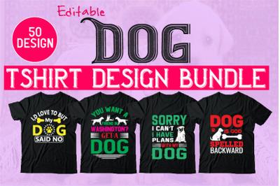 50 EditableDogTshirt Design Bundle