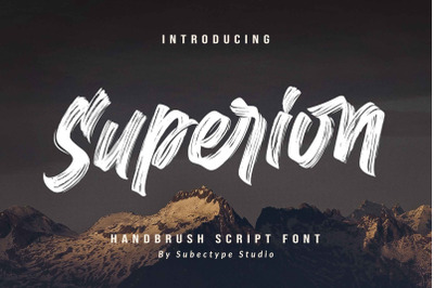 Superion / brush font