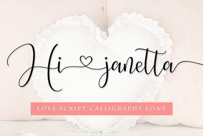 Hi janetta script