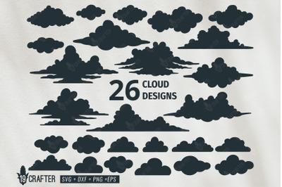 cloud vector design svg bundle