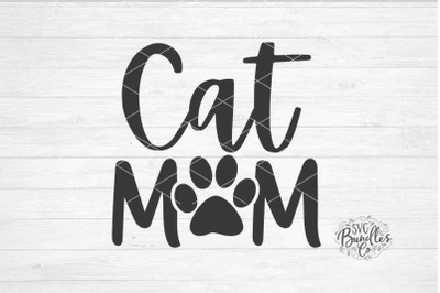 Cat Mom SVG DXF PNG