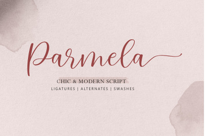 Parmela - Chic Modern Script