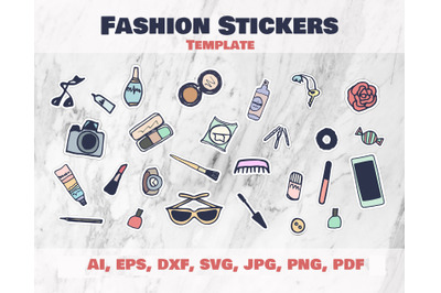 Fashion Stickers and Cliparts Vector SVG PNG