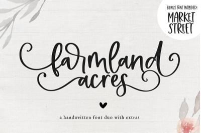 Farmland Acres - Handwritten Script Font Duo