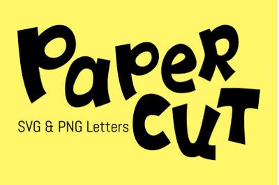 Paper Cut Letters, SVG Kids Alphabet
