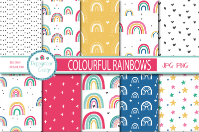 Colourful Rainbow paper