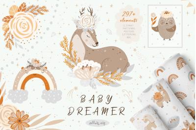 Baby Dreamer animals clipart & patterns