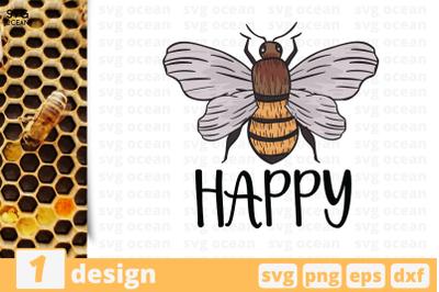 1 HAPPY BEE svg bundle, beecricut svg