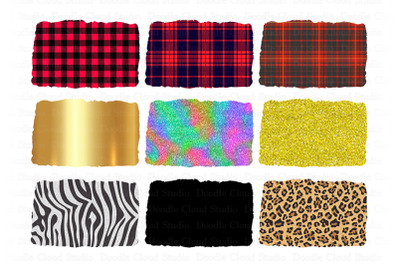 Sublimation Background PNG Buffalo Plaid- Gold-Glitter-Zebra-Leopard.
