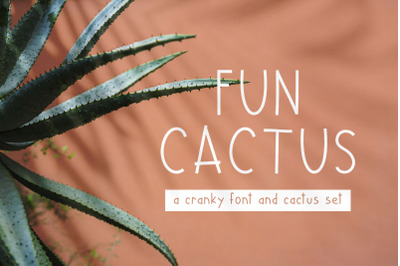 Fun Cactus Font and Graphics Pack