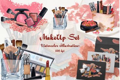 Watercolor Make Up Set 600 dpi