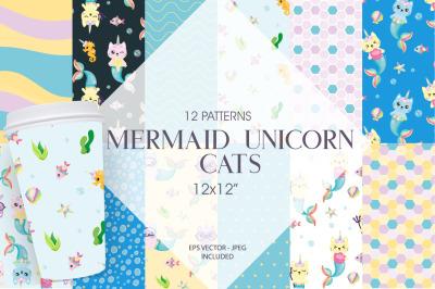Mermaid Unicorn Cats
