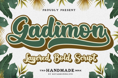 Gadimon Layered Bold Script
