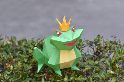 DIY Frog Prince - 3d papercraft