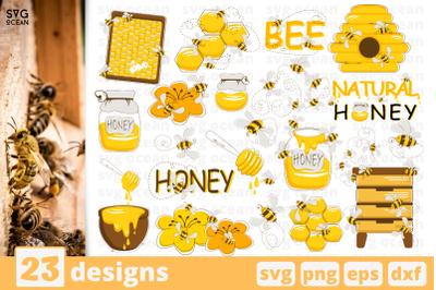 20 BEES svg bundle, honeybee cricut svg