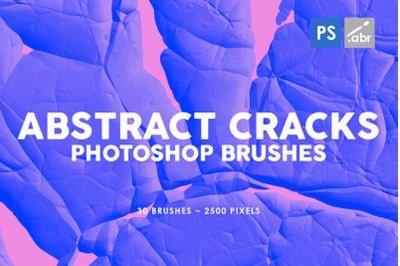 30 Abstract Cracks Photoshop Stamp Brushes