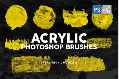 26 Acrylic Photoshop Stamp Brushes