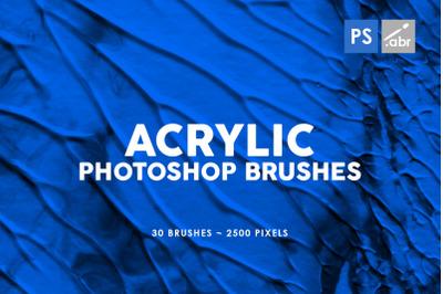30 Acrylic Photoshop Stamp Brushes Vol. 1