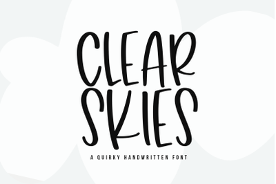 Clear Skies - Fun Handwritten Font