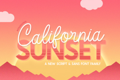California Sunset Font Family