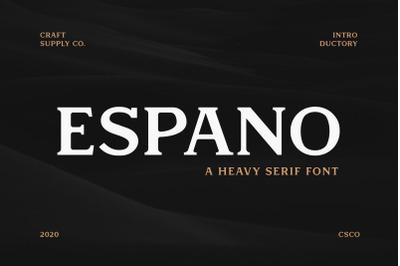 Espano - A Heavy Serif Font