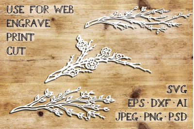 Spring branches | SVG DXF EPS PSD PNG JPEG