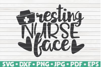 Resting nurse face SVG | Nurse Life