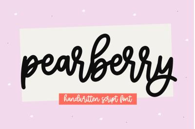 Pearberry - Cute Handwritten Script Font