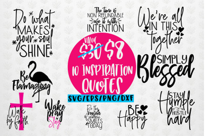 Inspiration Quote Bundle SVG EPS DXF PNG