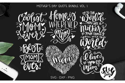 Mother's Day Quote Bundle - Hand Lettered
