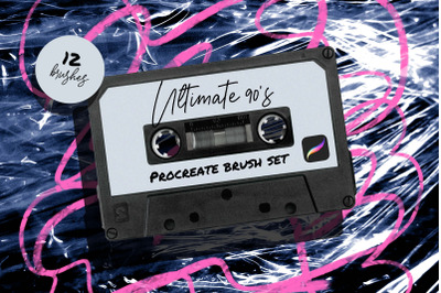 Ultimate 90s Procreate Brush set