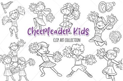 Cheerleader Kids Digital Stamps