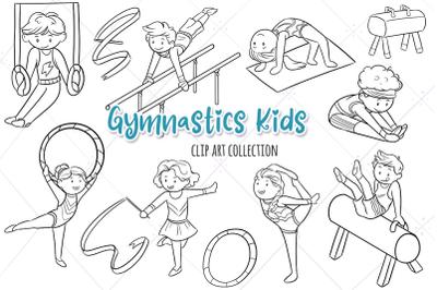 Gymnastics Kids Digital Stamps