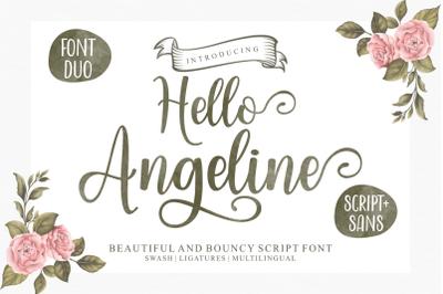 Hello Angeline Font Duo