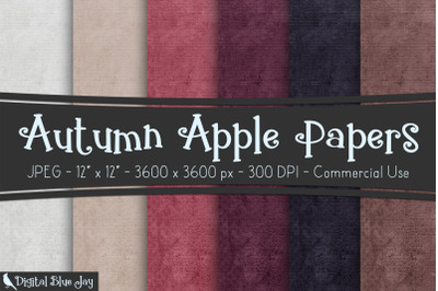 Autumn Apple Digital Papers