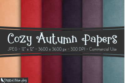 Cozy Autumn Digital Papers