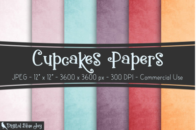 Cup Cakes Digital Papers