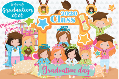 Graduation Girl 2020 cliparts