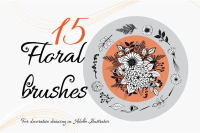 Floral Brushes for Adobe Illustrator +bonus